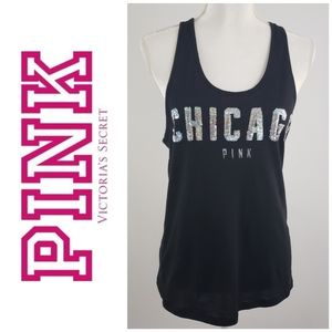 Victoria secret pink S Tank top With Silver BLING